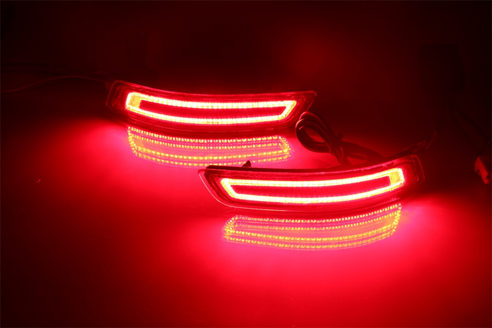 цена на High Quality Car Accessories For Corolla 2013 2014 2015 2016 Reflector LED Tail Rear Bumper Light Brake Lamp Fog light