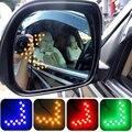 55x40 milímetros 14 SMD LED Seta Painel Para Carro Rear vista Indicador Espelho Ligue Luz de Sinalização de Alta Qualidade Luz Do Carro Do Carro-Styling Nov 8