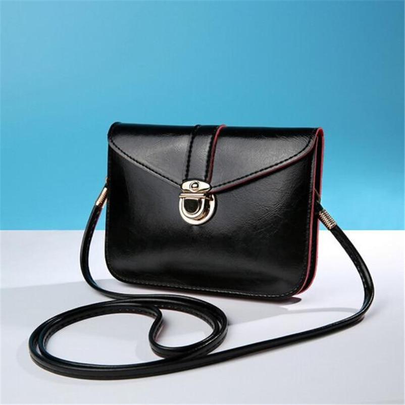 2017 Women Fashion Zero Purse Leather Handbag Single Shoulder Messenger Phone Bag Female Girl Ladies Simple Handbag Wholesale A8 shoulder bag
