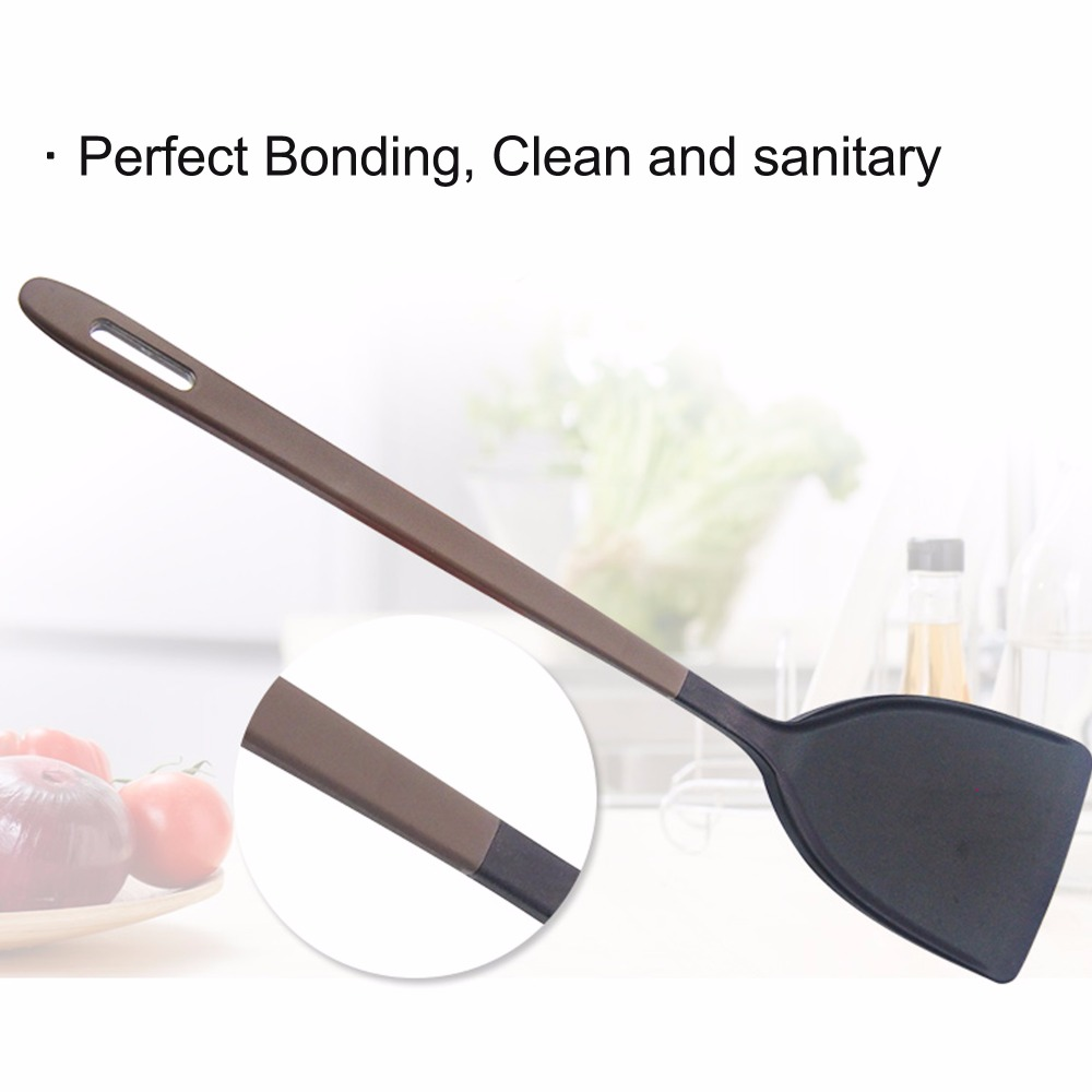 Liflicon Food Grade Silicone Spatula Turners Non Stick Kitchen Utensils Flexible Cooking Crepe Spatula Stay Cool Handle in Turners from Home Garden