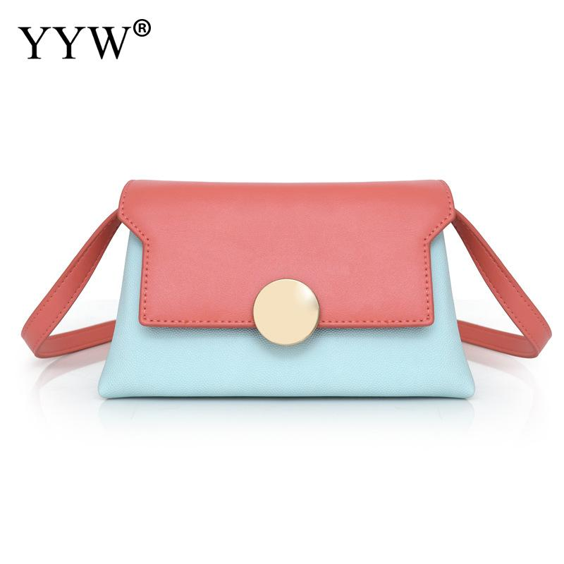 YYW New Casual Crossbody Bags For Women 2018 Sac A Main Pink Blue Shoulder Messenger Bag Lady Sweet Mini Small Phone Purse Bag