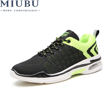 MIUBU Men's Breathable Mesh Shoes Men Lightweight Fashion Casual Shoes Male Hard-Wearing Lace-Up Flats chaussure homme Summer стоимость