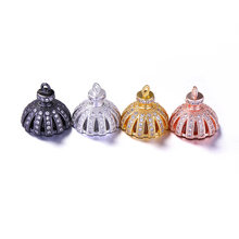 Jewelry Making Supplies High Quality Copper Zirconia Rhinestone Tassel Caps Charms DIY Long Necklace Findings & Component(China)