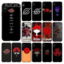 Ruicaica Naruto Shippuden xiao logo Customer High Quality Phone Case for iPhone 8 7 6 6S Plus 5 5S SE XR X XS MAX Coque Shell