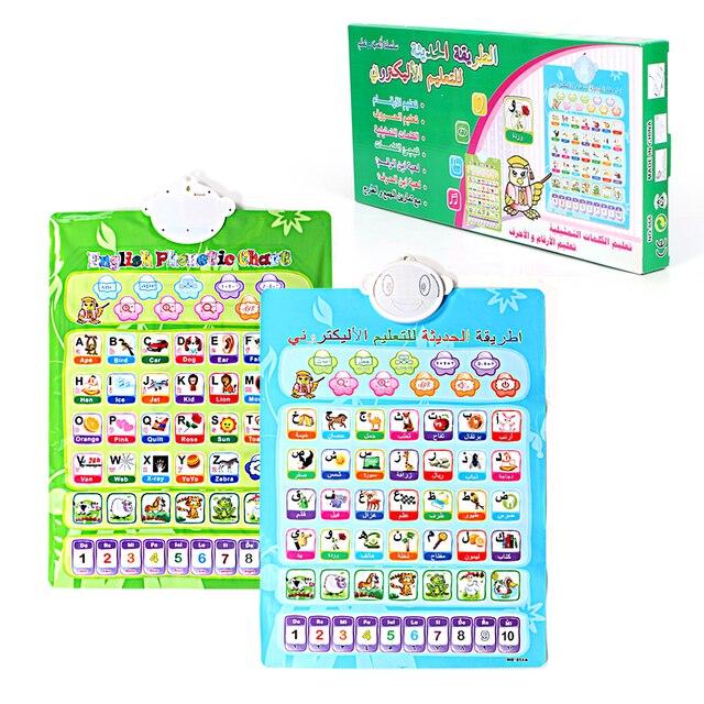 double sided phonic wall hanging chart arabic and english language