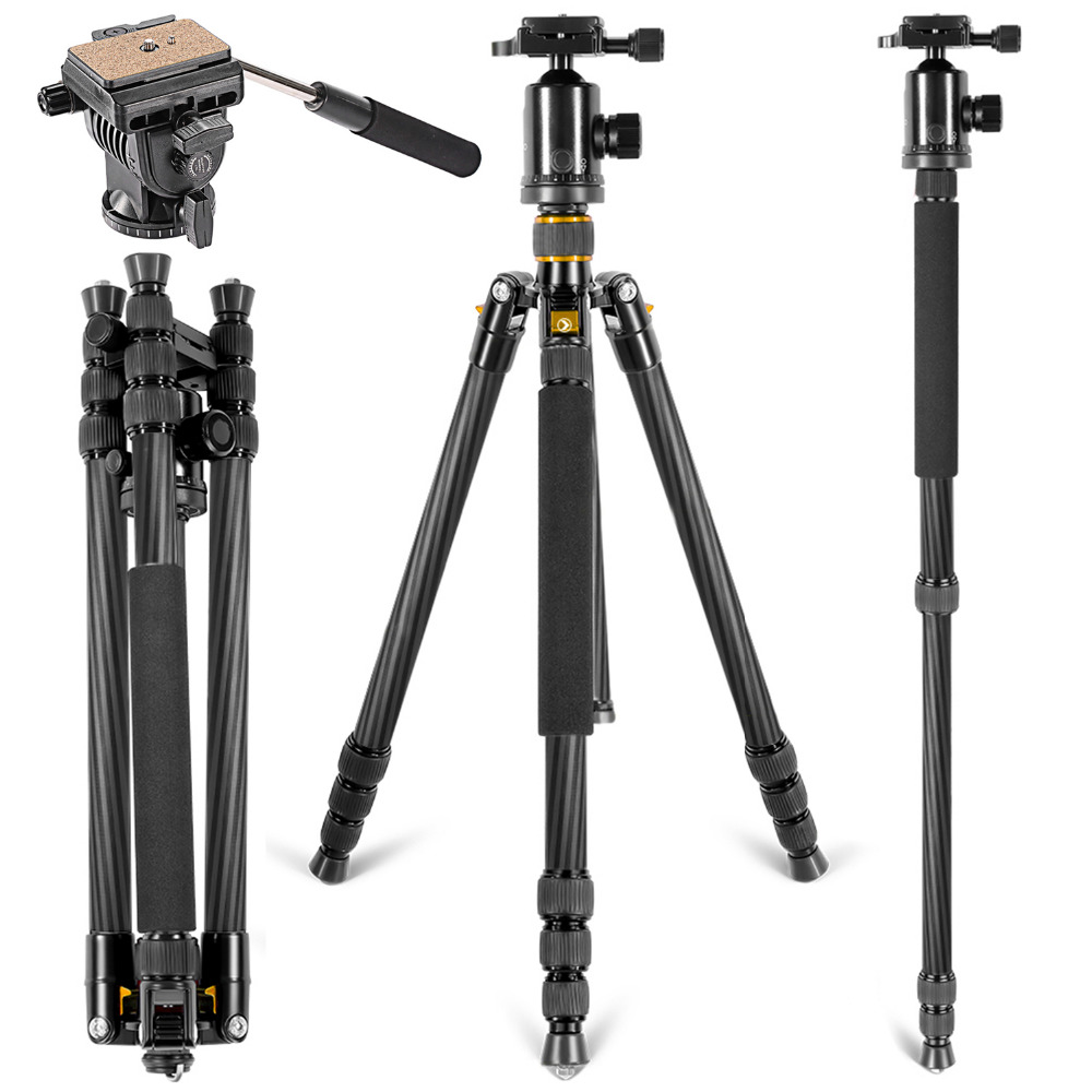 Neewer Carbon Fiber 66 inches/168 cm Tripod Monopod with 360 Degree Ball Head Fluid Video Head Quick Shoe Plate 1sheet matte surface 3k 100% carbon fiber plate sheet 2mm thickness