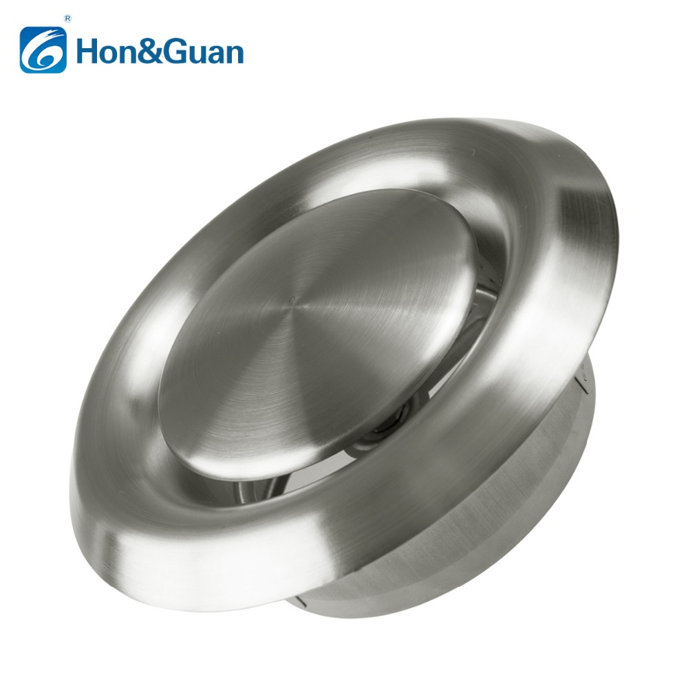 Hon&Guan 4 - 6'' Stainless Steel Adjustable Ventilation Cover Wall Air Inlet (100mm / 150mm) hon