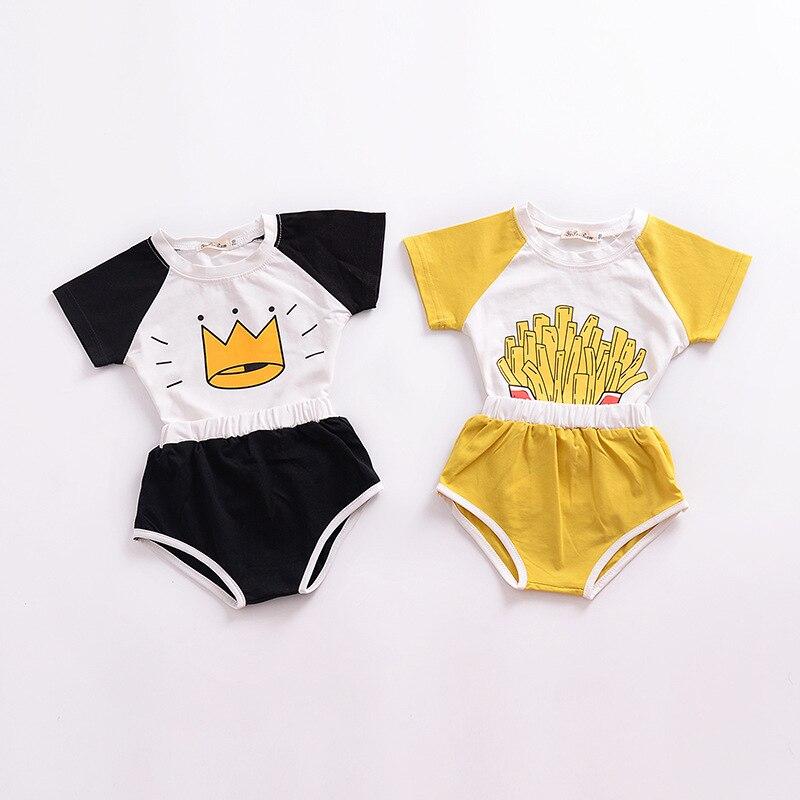 Baby Boy Summer Clothes Cartoon Short Girl Set 2018 New