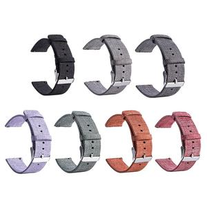 Image 1 - New High Quality Strap Universal Nylon Canvas Watchband 22mm Smart Watch Strap For Pebble Time 1 2 Generation