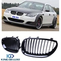 2x Sport Wide Car Front Upper Kidney Grille Grill Guards For BMW E60 E61 5 Series 2003-2010 525 528 530 535 545 550 M5 #P217