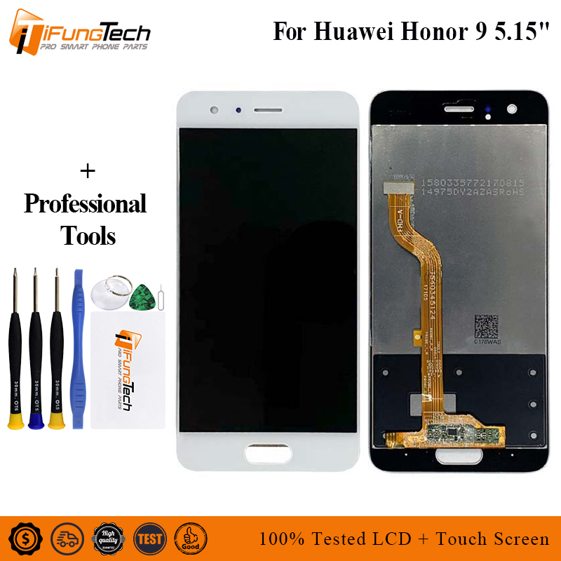 Für <font><b>Huawei</b></font> <font><b>honor</b></font> <font><b>9</b></font> <font><b>LCD</b></font> <font><b>Display</b></font> + Touch Screen Panel Digitale Ersatz Teile Montage Original 5,15 zoll 1920x1080 P image