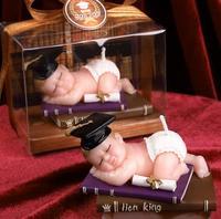 Piękny doktor dziecko śpiące shaped sól rzeźba formy silikonowe ciasto kremówka mold diy silikonowe świeca formy dla baby shower party