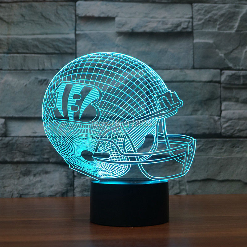 3D led logo light on helmets slong light furniture as football gifts