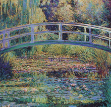 Impression Landscape Claude Monet Japnese Bridge Wall Painting Decoration Printed to Canvas Oil  Customized