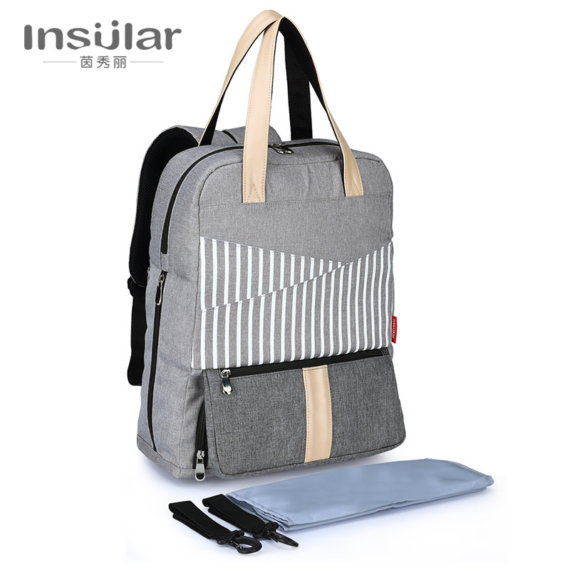 Insular Brand Fashion Diaper Bag Mummy Maternity Travel Backpack Baby Nappy Bag Large Capacity Mother Nursing Bag For Baby Care