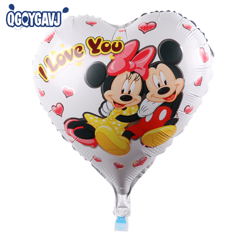 QGQYGAVJ new! Childrens toys, birthday party supplies foil hearts white Mickey automatic sealing balloon wholesale