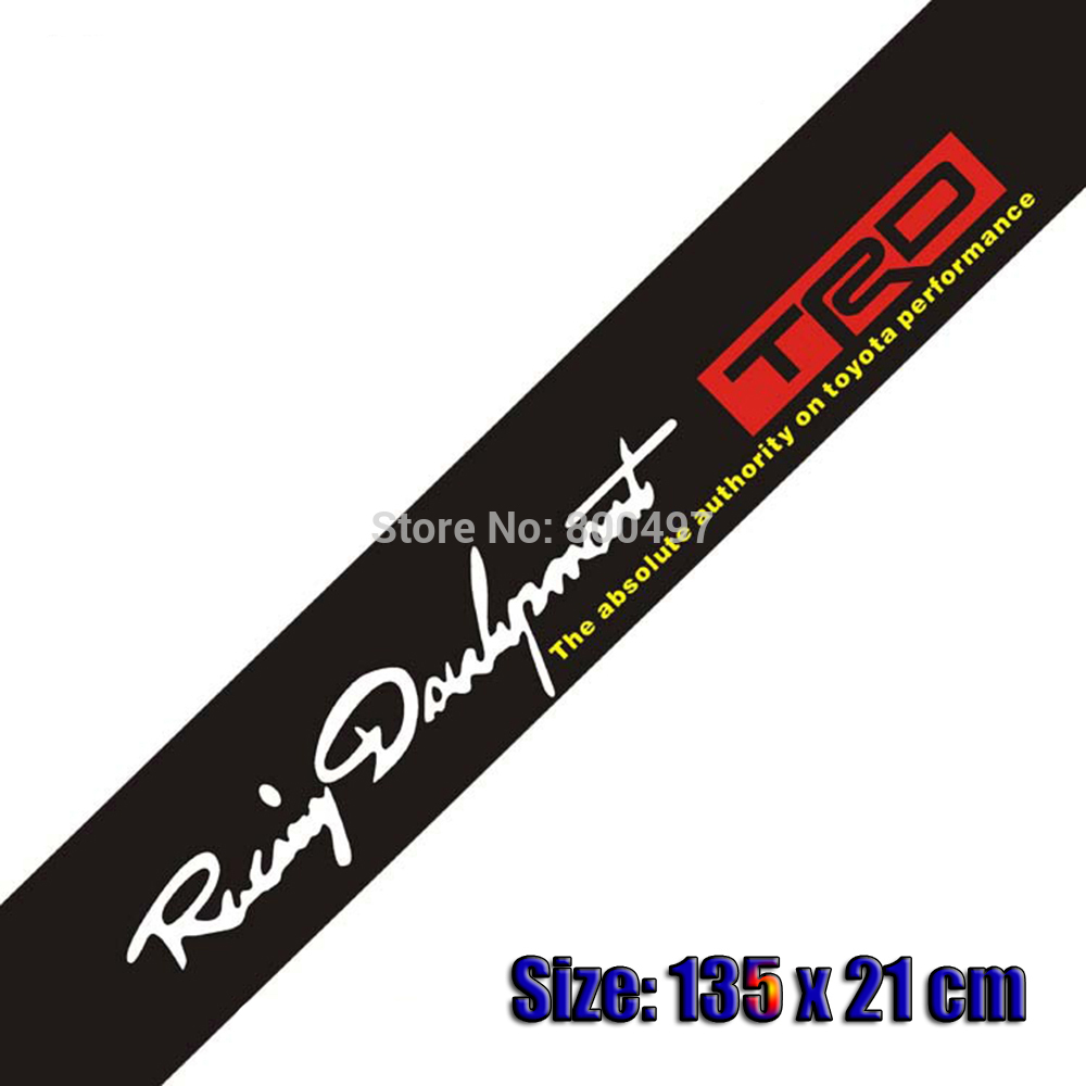 Toyota car sticker design - Car Styling Trd Toyota Racing Development Reflective Car Sticker For Front Windshield For Toyota Reiz New