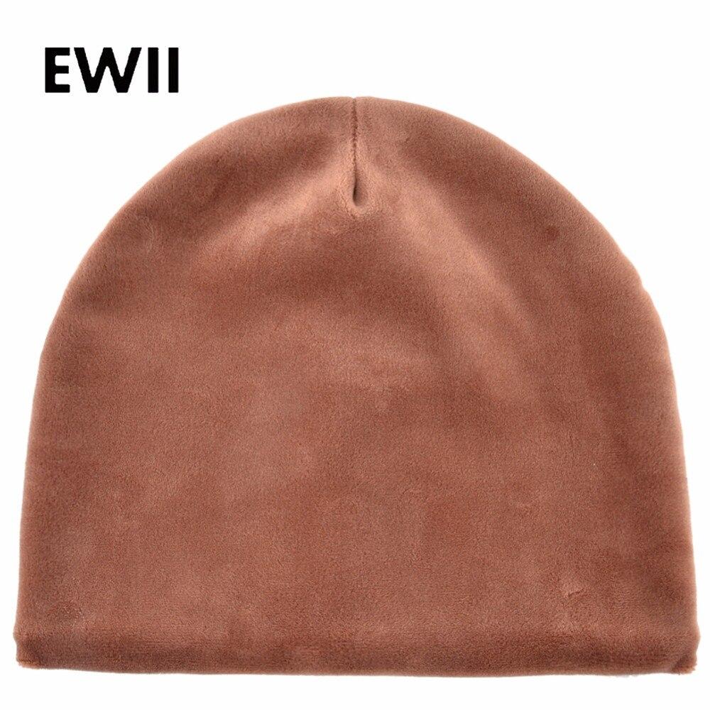 New solid velvet hat   skullies     beanies   for women winter   beanie   caps ladies knitted cap women bonnet warm hats gorras mujer