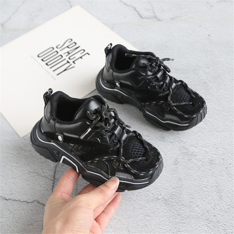 Children's Shoes 2020 New Toddler Boys Girls Sport Shoes Reflective Shoelace Breathable Outdoor Tennis Fashion Kids Sneakers