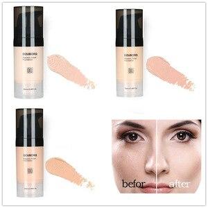 Image 3 - Base de maquiagem facial, líquido de acabamento fosco, maquiagem, corretivo, à prova dágua, cosmético natural