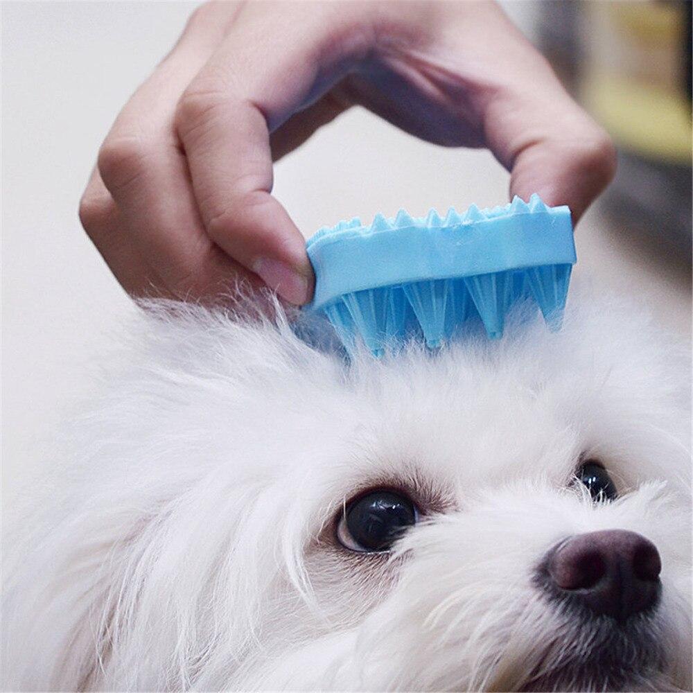<font><b>2</b></font> <font><b>in</b></font> <font><b>1</b></font> <font><b>Double</b></font> <font><b>Sides</b></font> <font><b>Pet</b></font> Dog Cat Comb Soft Rubber Dogs Cats Bath Massage Brush Hair Removing <font><b>Grooming</b></font> Cleaning Washing <font><b>Tool</b></font>