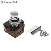 Mini Push Button Boat Mortorhome Showcase Door Catch Lock Van RV Caravans Yacht Furniture Drawer Cabinet half moon design keyless push button latch for rv yachts drawer rv boats trailers cabinets positive action push button catch
