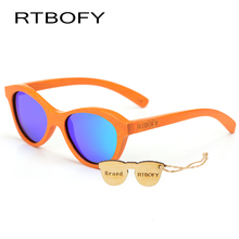 017RTBOFY New Child font b Polarized b font font b Sunglasses b font Kids Designer Bamboo