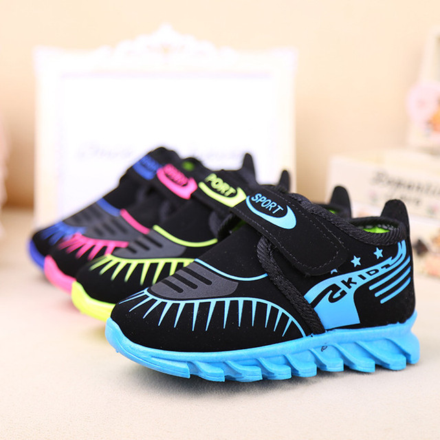 Kids Sneakers Rubber Nonslip Shockproof Chaussure Enfant Walking Running Sport Boys Shoes Spring Aurumn Girls Cute Shoes Online