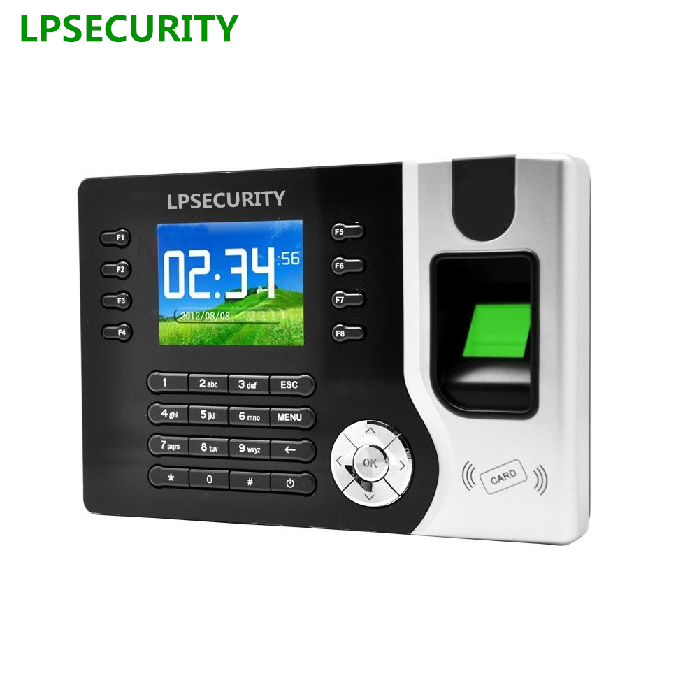 LPSECURITY TCP/IP USB 2000 user RFID ID card password Fingerprint biometric time attendance machine for office hotel factory кальсоны user кальсоны