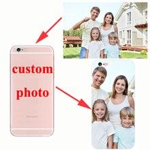 Custom Logo Design Photo Phone Cover DIY Customized Print Phone Case for iPhone X 8 7 6 6s 5s 5 SE Plus