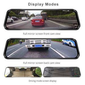 "Image 4 - Phisung 4G Streaming Android Auto DVR Sonder 10 ""Touch rückspiegel FHD 1080P Dual dash kamera ADAS wiFi GPS Kanzler dvrs"