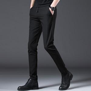 Image 4 - Jantour 2020 Mode Männer Hosen Slim Fit Frühling sommer Hohe Qualität Business Flache Klassische Voller Länge dünne Casual Hosen männlichen