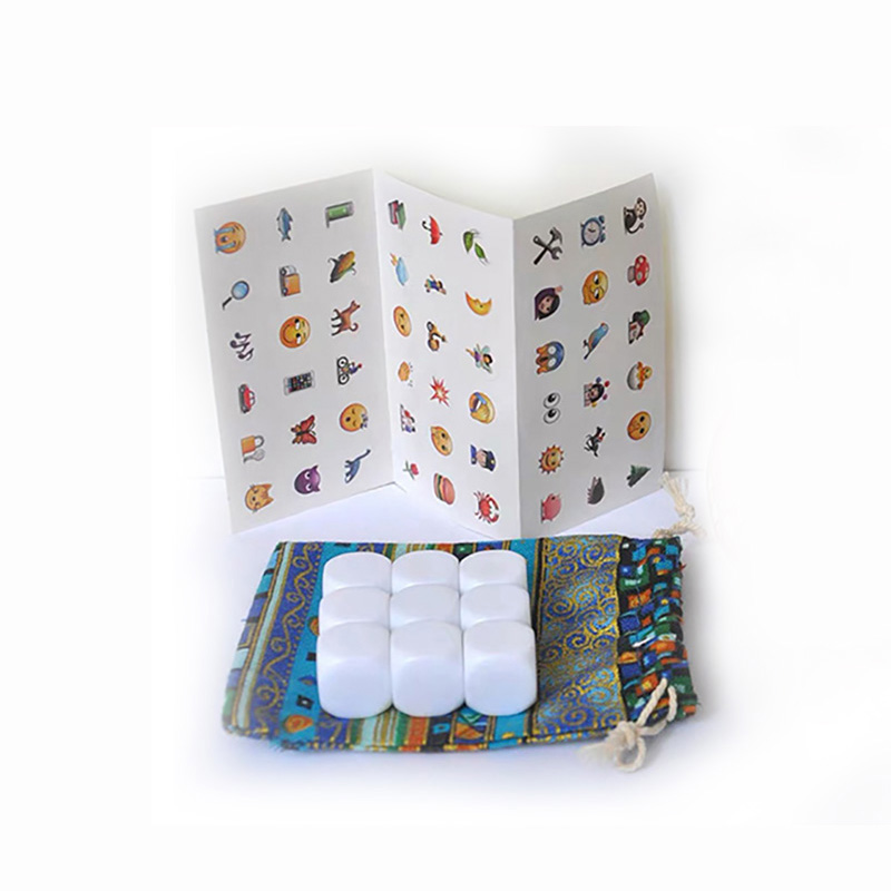 DIY Telling Story Puzzle Game Story Dice With Bag/English Rules DIY Blank Dice And Sticker Funny Imagine Magic Toys