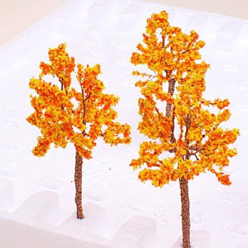 HOT SALE Model Tree Train Orange Flowers Set Scenery Landscape OO HO - 10PCS