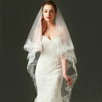 Wedding Bridal Veil Wedding White Lace Veil bride dress 3 Meters Long Wedding Veil for Cathedral Wedding Party Decoration