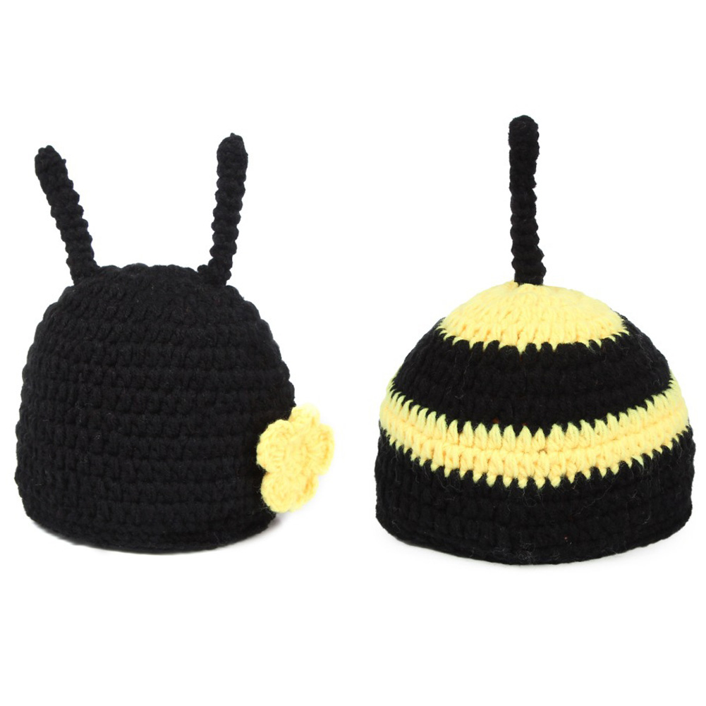 Handmade Newborn Photography Props Bonnets Beanie Caps Costume Crochet Outfits Cotton Hat Animals Set for 0-12 Months Baby