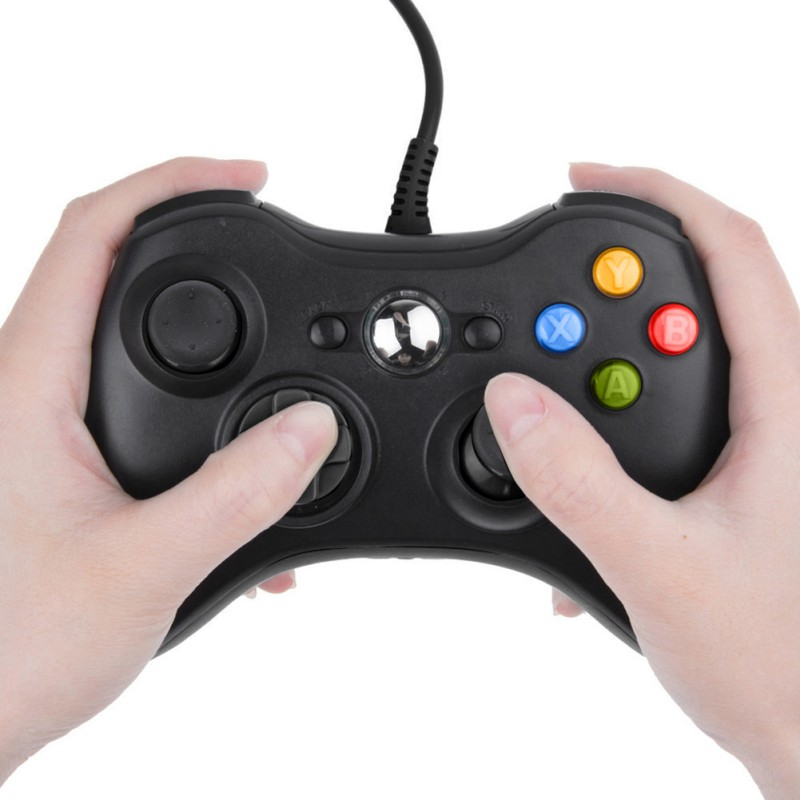 USB con cable Joypad Gamepad negro controlador para Microsoft PC oficial para Windows 7/8/10
