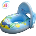 Baby Sun Protection Inflatable Boat  0-3 yrs Kids Pool Seat 2016 Children Swimming Inflatable Floats Baby Swim Ring Accessories