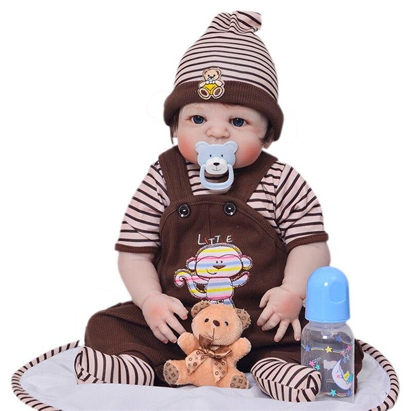 Bambola neonato 57 centimetri Realistica Del Silicone Pieno 23 ''Reborn Baby Doll Vendita Realistiche Bambole Del Bambino Bambini Compagno di Giochi di Natale regali-in Bambole da Giocattoli e hobby su  Gruppo 1