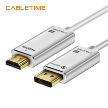 CABLETIME DisplayPort to HDMI Cable Adapter 4K 30Hz DP To HD