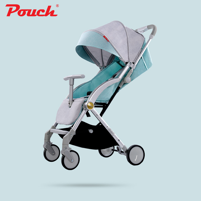 Pouch stroller ultra light can sit reclining portable umbrella folding baby stroller child trolley can be on plane baby stroller ultra light portable shock absorbers bb child summer baby hadnd car umbrella