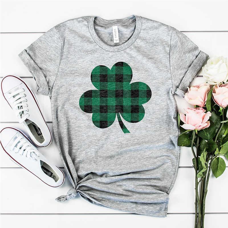 e77e35a25 ... St Patricks Day Tshirt Graphic Tees Women Street Wear Green Harajuku  Luck Girl Let's Get Shamrocked ...