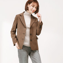 7dd9bd90ea 2018 novo de alta qualidade da Manta Do Vintage Mulheres Blazers Jaquetas  Magro código de vestimenta Grande temperamento moda ca.