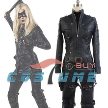 America TV Green Arrow Season 3 Black Canary Laurel Lance Outfit Jacket Pants Hero Cosplay Costume Eye Patch New Arrival
