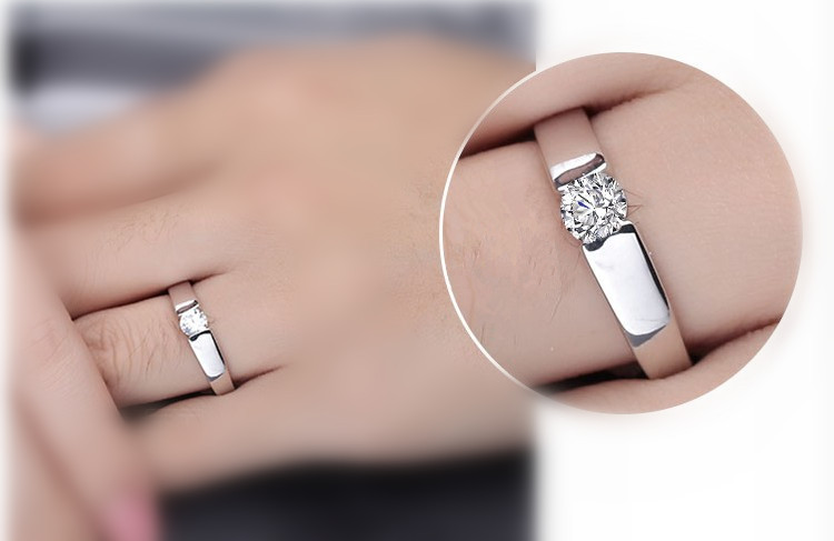 Arrows Hearts Couples 925 Silver Ring CZ Crystal Engagement Wedding Rings Set For Men And Women Promise Band In From Jewelry Accessories On