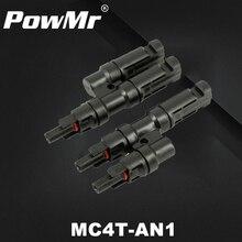 Одна пара мульти Т-филиал MC4 разъем для подключения панели солнечных батарей мужской и женский MC4 разъем от одного до двух комбинатор MC4T-AN1