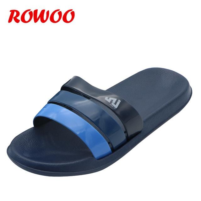 estilo máximo moda más deseable nuevas variedades € 9.04 50% de DESCUENTO|Hombre Flip Flop baño sandalias para hombres de  ocio zapatos de la casa de interior y al aire libre zapatillas Cool verano  ...