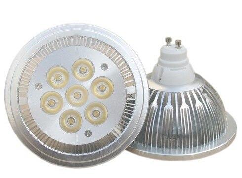 LED Spotlight 7W AR111 G53 GU10 spotlights110V 220V ES111 QR111 Equal 90W Halogen Spot Light Home