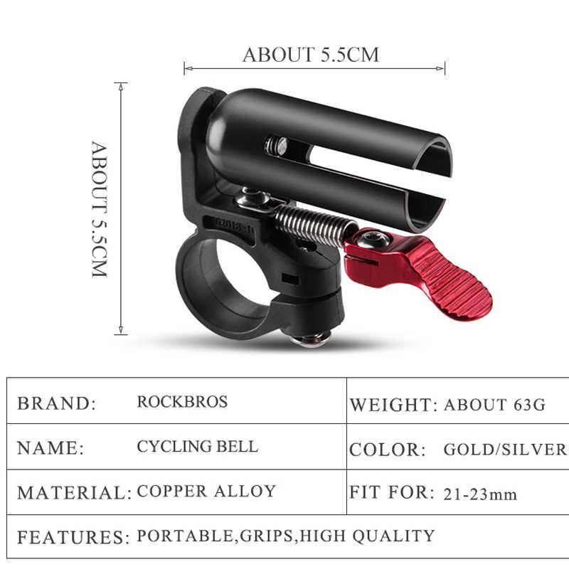 ROCKBROS Sepeda Sepeda Bell Bersepeda Stang Depan Tembaga Portabel Aman Tanduk Peringatan Alarm Cincin MTB ROAD Sepeda Aksesoris