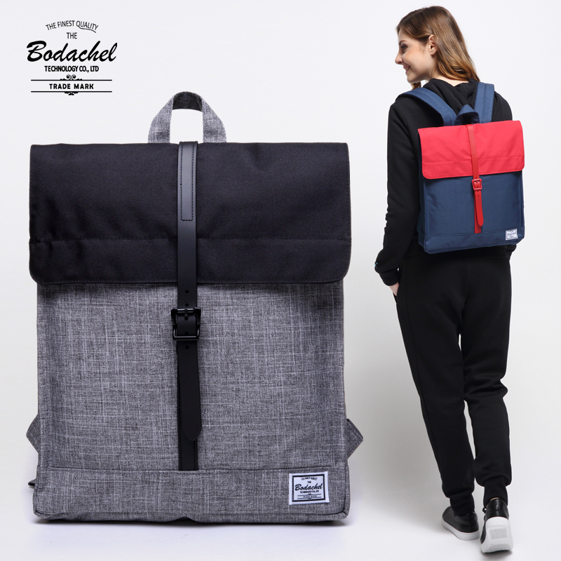 Bodachel Oxford Square City Bag Street Simple Backpack For Women BC03